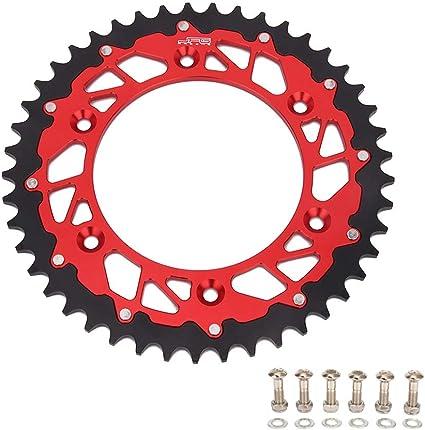 CNC 52T Teeth Rear Chain Sprocket For Honda CR125R CR125 CRF150F CRF230M CRF230F CRF230L XR250 CRM250 CRM250 CR250 CRF250X CRF250R XR400 CRF450R CRF450X CR500 XR650R Dirt Bike
