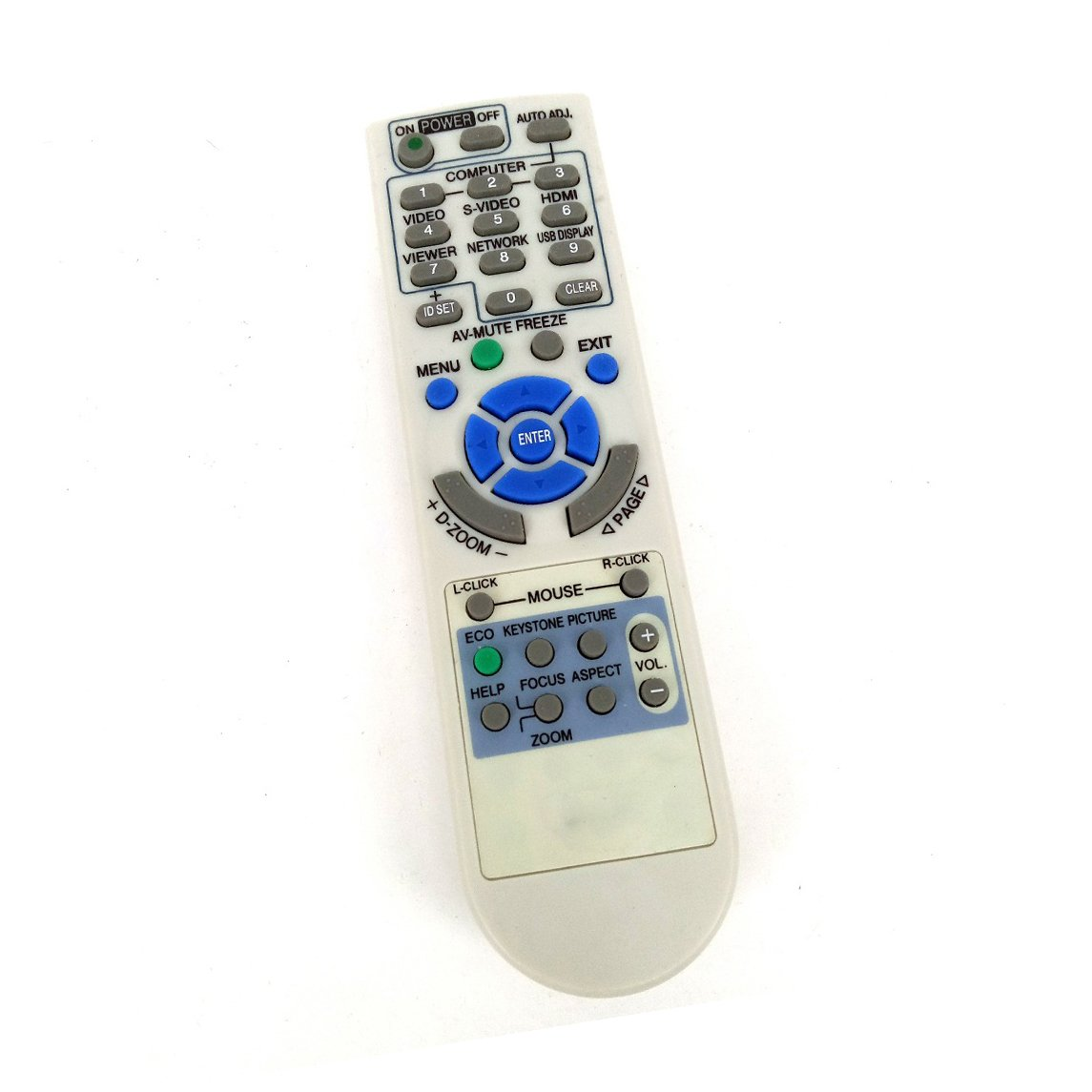 Replacement Projector Remote Control for NEC LT380 LT375+ NP310 NP400 NP400C NP54+ NP60+ NP-M322W NP-M322X by BOMAZ