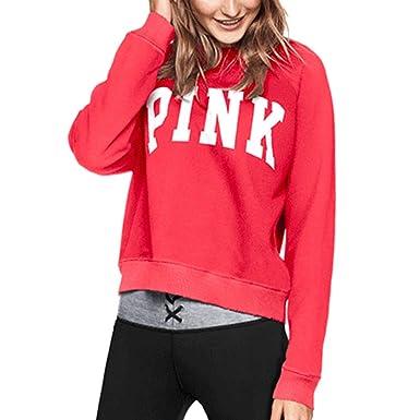 Pink Victorias Secret - Sudadera - para Mujer Rojo Bombshell Red X-Small