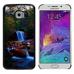 Smartphone Rígido Protección única Imagen Carcasa Funda Tapa Skin Case Para Samsung Galaxy S6 EDGE SM-G925 Waterfall Nature Forrest / STRONG