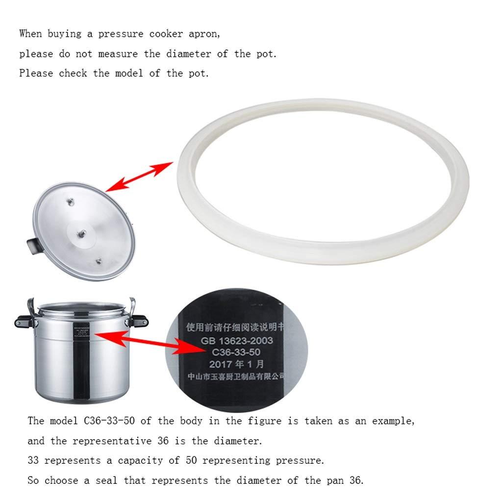 Dimensione : 24cm Cxp Boutiques Anello di Tenuta in Silicone Trasparente con diaframma a Pressione in Silicone Bianco Parti di Ricambio per pentole a Pressione elettriche