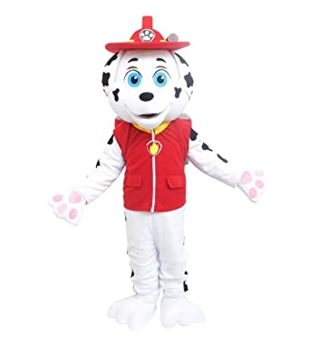 paw patrol marshall dog costume mascot adult size for halloween or birthday boy or girl party