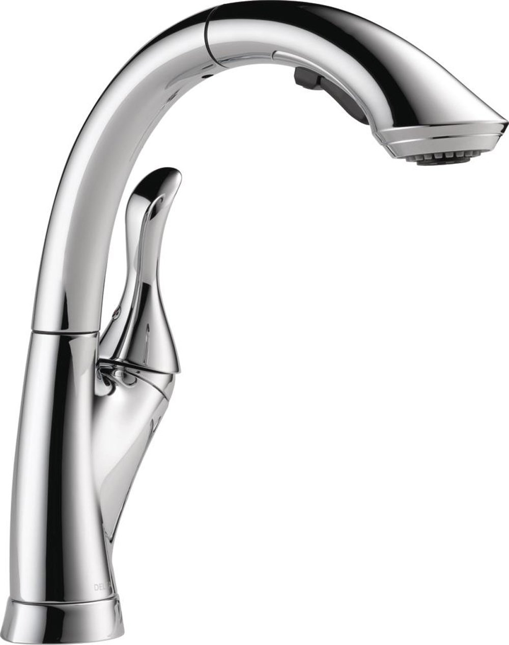 Delta Faucet Linden Single-Handle Kitchen Sink Faucet with Pull Out Sprayer, Chrome 4153-DST