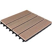 Deuba WPC baldosas de terraza azulejos de madera
