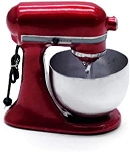 Vintage Dark Red Bread Dough Mixer Machine Dollhouse Miniatures Food Kitchen by Cool Price