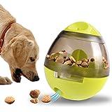 Tumao 犬 猫 食器 犬猫用フード おやつボール 餌入れ 犬用 玩具ボール 倒れないエッグ おもちゃ ボール 噛むおもちゃ 餌やり (グリーン)