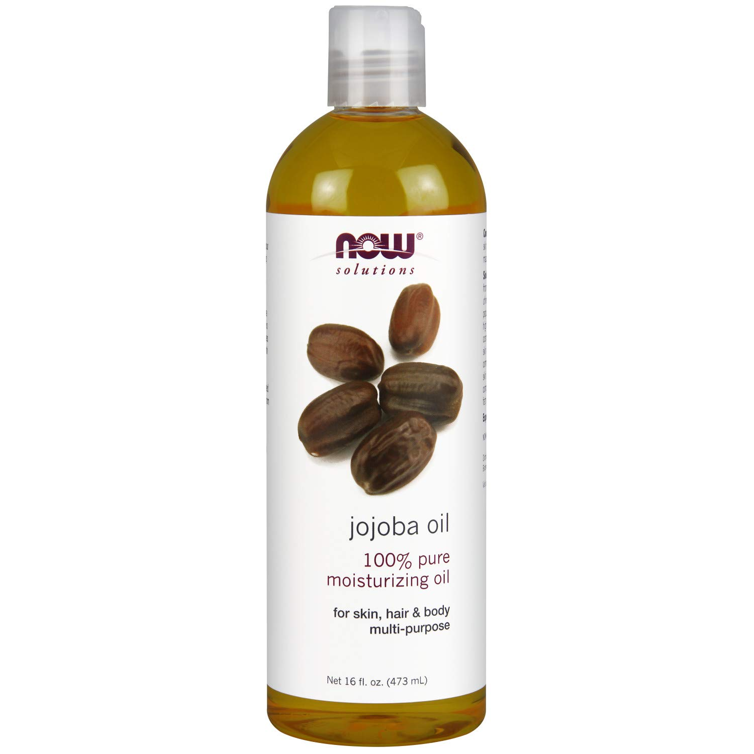 Now Solutions, Jojoba Oil, 100% Pure Moisturizing, Multi-Purpose Oil for Face, Hair and Body, 16-Ounce by NOW Foods