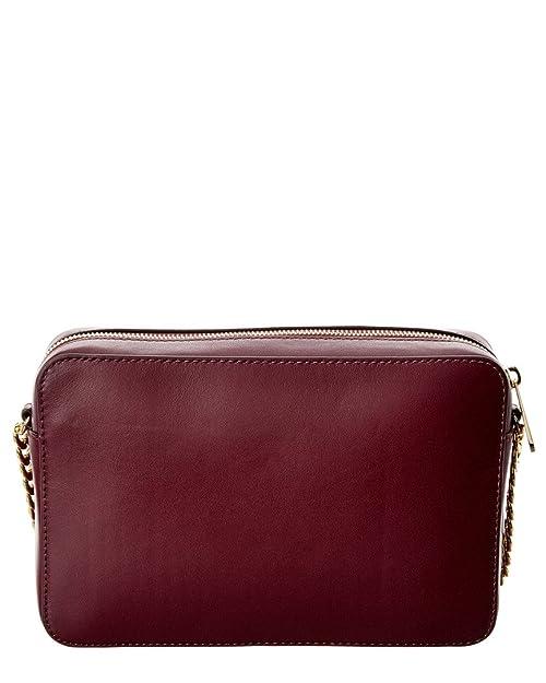 ea908ff37cce Michael Kors Womens Marquetry Leather Patchwork Crossbody Handbag Purple  Small  Handbags  Amazon.com