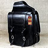 109F HILASON WESTERN HEAVY DUTY LEATHER COWBOY TRAIL RIDE HORSE SADDLE BAG BLACK