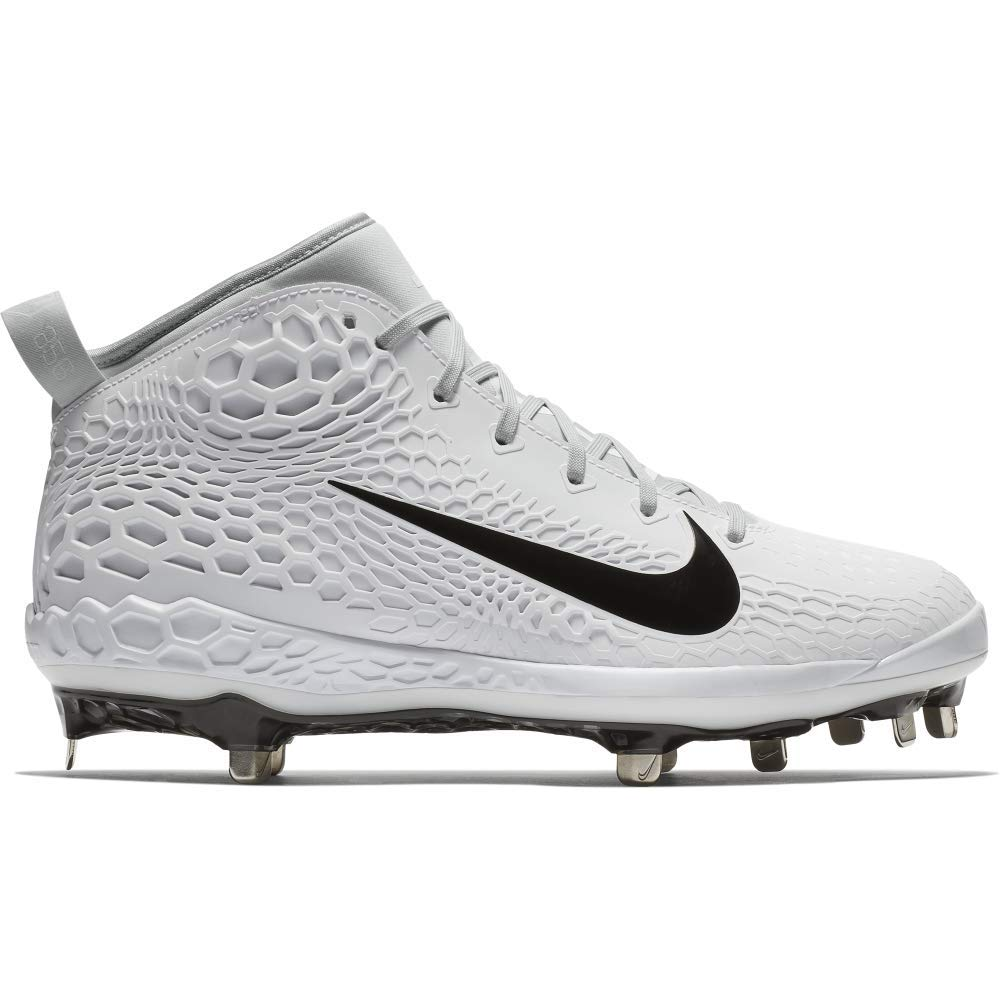 Nike Men's Force Zoom Trout 5 Metal Baseball Cleats (8.5, White/Black)