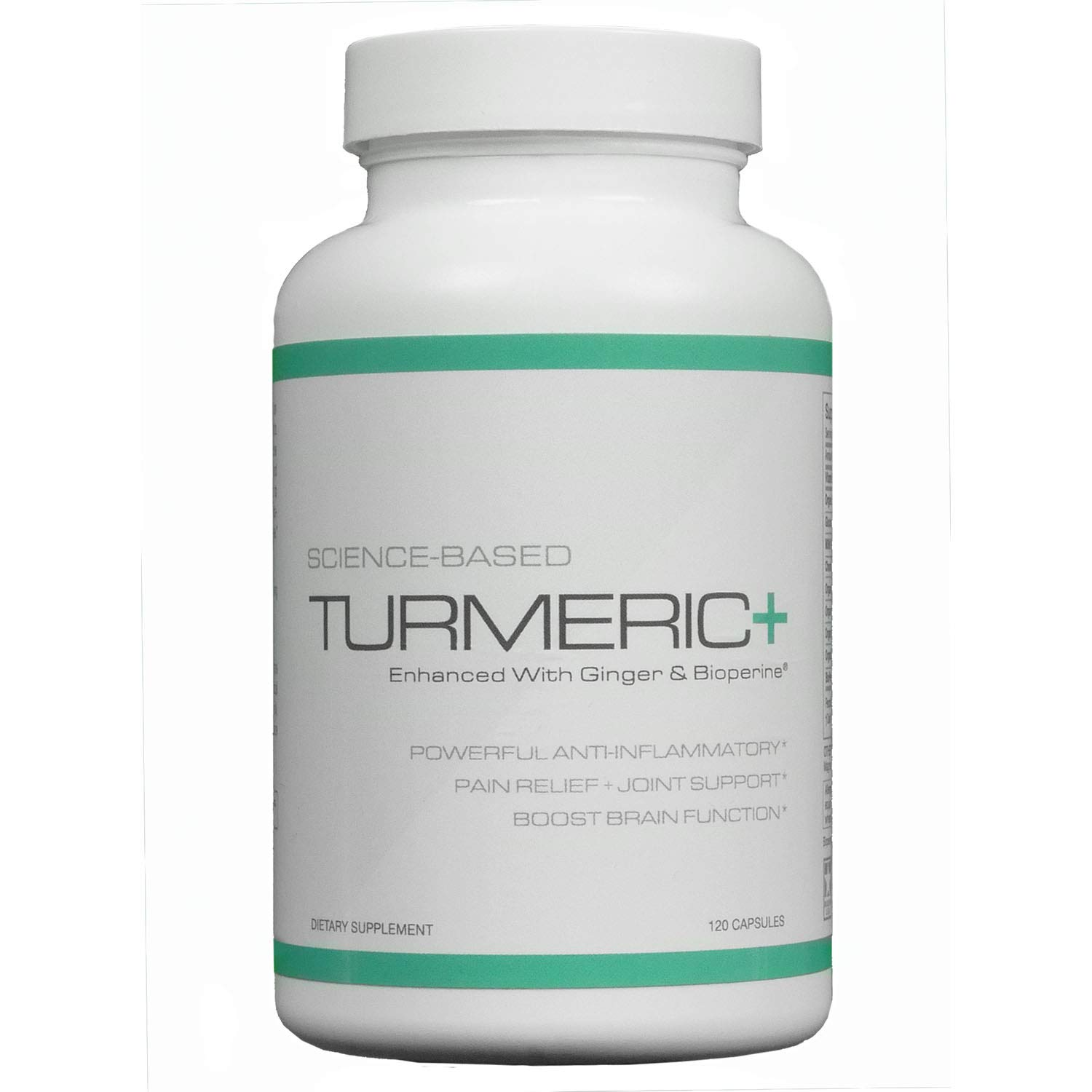 Turmeric – Enhanced with Ginger and Bioperine – 120 Capsules – 30 Day Supply