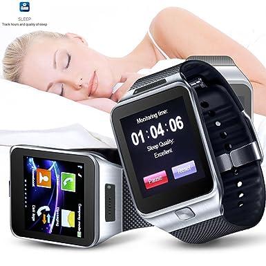Indigi® SWAP2 reloj teléfono celular GSM Bluetooth pantalla táctil MP3 Cámara espía en & T