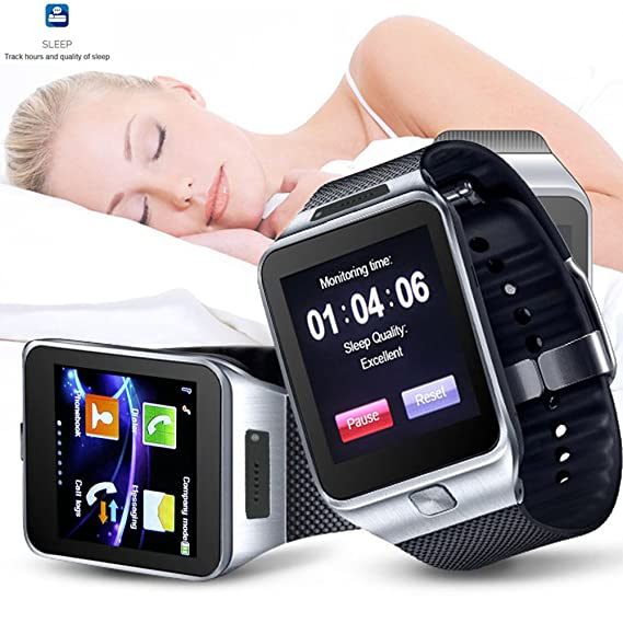 Indigi® 2-in-1 GSM Micro Sim Card + Bluetooth Sync SmartWatch Phone ~Capacitive Color Touch Screen | Time Display | Calls (Answer, End, Reject) | ...