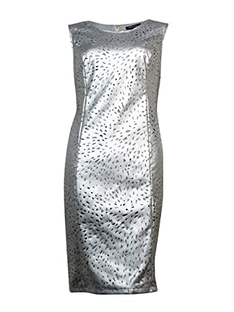 Image Unavailable. Image not available for. Color  Thalia Sodi Womens Faux  Leather Metallic Party Dress ... 3ea5e4bd5