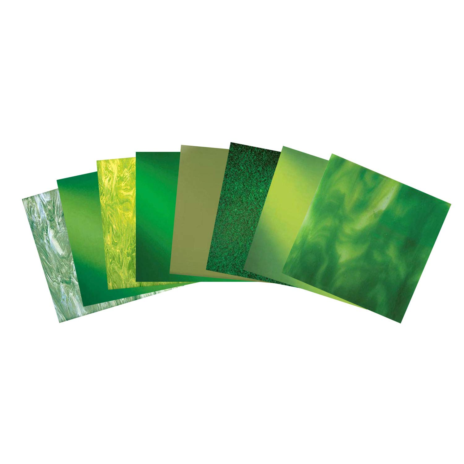 System 96 It's Easy Being Green Fusible Glass Pack - 96 Coe by Delphi Glass