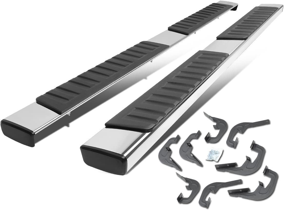 """For 07-18 Chevy Silverado Crew Cab 5/"""" Running Boards Nerf Bar Side Step S//S DH"""