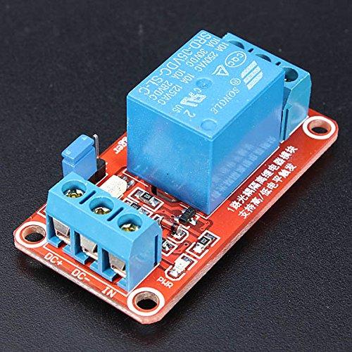 Module Board Arduino Compatible SCM /& DIY Kits 5V 1 Channel Level Trigger Optocoupler Relay Module for Arduino