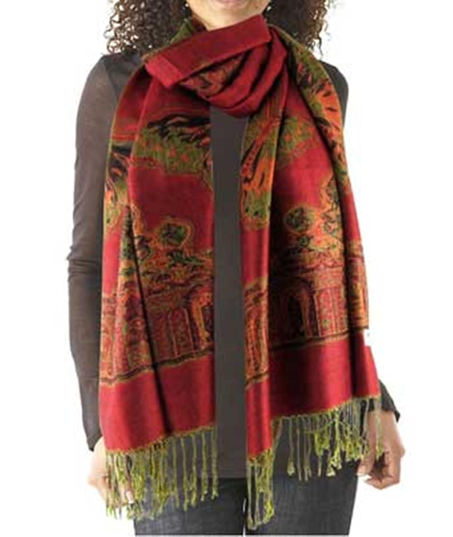 Women's Red Acrylic winter scarf SCARF0902