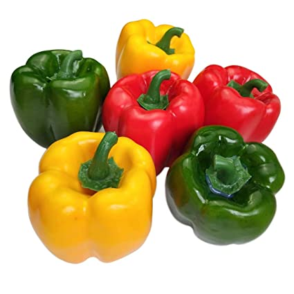 5488ddc3b9f6 Lorigun Artificial Bell Peppers Fake Veggie Colorful Bell Peppers for  Decoration