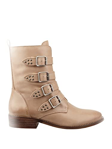 GUESS Womens Mayeta Almond Toe Ankle Fashion Boots Light Natural Size 8.5