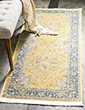 Unique Loom Baracoa Collection Bright Tones Vintage Traditional Yellow Runner Rug (2' 2 x 6' 0)