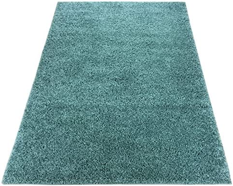Shaggy Collection Solid Color Shag Rug Area Rugs Options Available Light Teal Blue