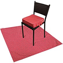 Zicac Booster Cushion Toddler - Splat mats - Traveling Dinning Chair - Floor Protector Cover (2-Pack) (Red Star)