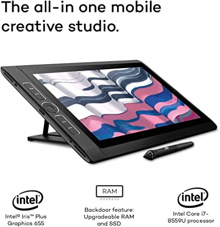 Thunderbolt-Verbindung und lebensechter High-Resolution Aufl/ösung Intel Core i7-8559U-Prozessor Wacom MobileStudio Pro 13 Stift-Computer mit Wacom Pro Pen 2