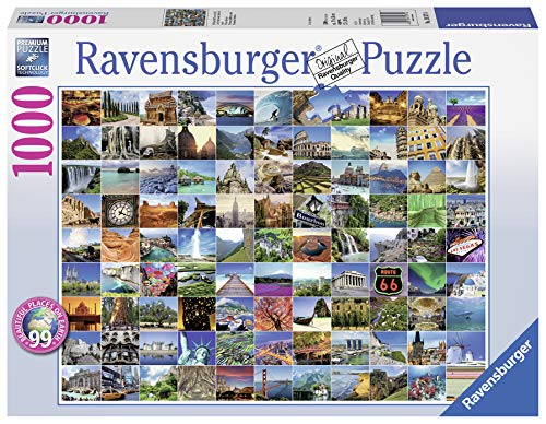 Ravensburger 99 Beautiful Places on Earth 1000 Piece Jigsaw Puzzle for Adults - Every piece is unique, Softclick technology Means Pieces Fit Together Perfectly (Best Jigsaw Puzzles For Adults)