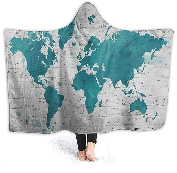 Hirkeld Mapamundi de Madera de IKEA Manta con Capucha de ...