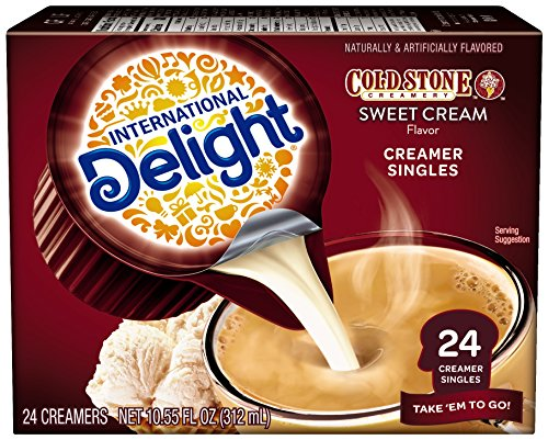 Delight Coffee Cream (International Delight Cold Stone Sweet Cream Single-Serve Coffee Creamer Singles, 24 count)