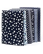 7pcs Quilting Fabric, 50 x 50cm Cotton Fabric, Different Pattern Patchwork, Fabric Craft Printed Cotton Material Mixed Squares Bundle Quilting Scrapbooking Sewing Artcraft DIY Fabric 19.7 * 19.7Inch