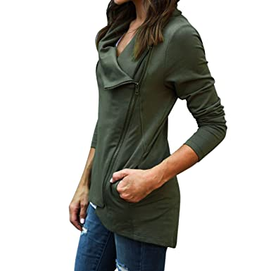 PXiong Hooded Coats Women,Ladies Zipper Sweatshirt Jacket Casual Slim Jumper Top