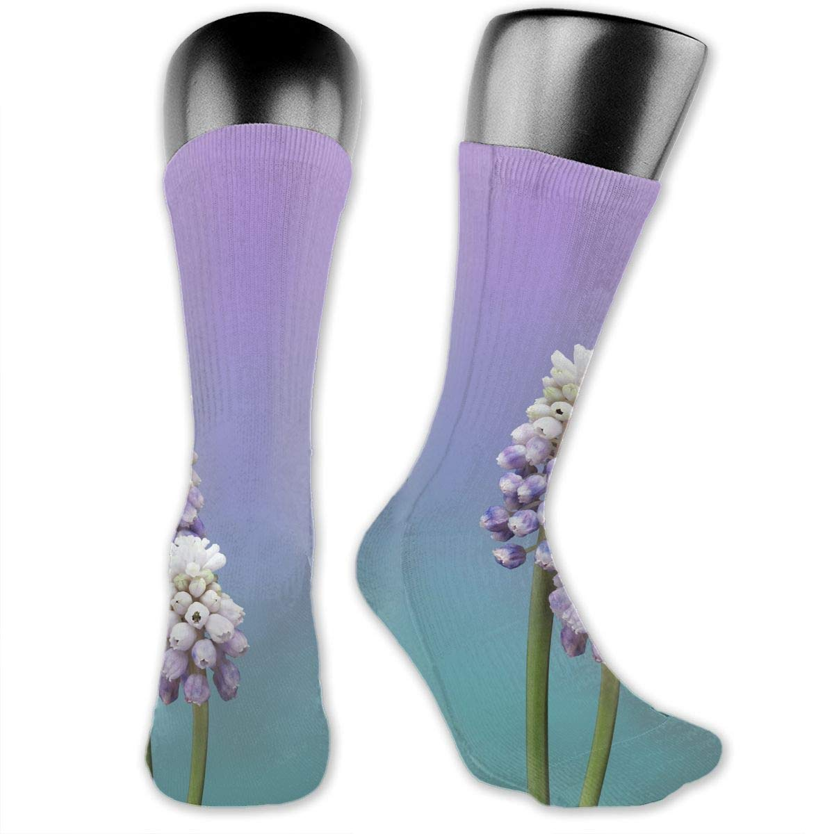 OLGCZM Flowers Purple Men Womens Thin High Ankle Casual Socks Fit Outdoor Hiking Trail