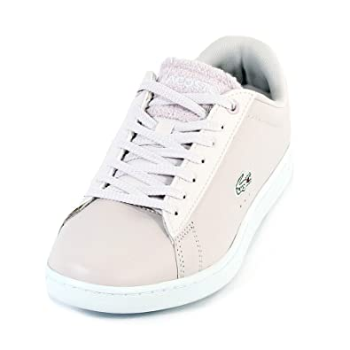 bb85da391 Lacoste Women's Carnaby Evo 119 1 Leather Lace Up Light Purple/White: Amazon .co.uk: Shoes & Bags