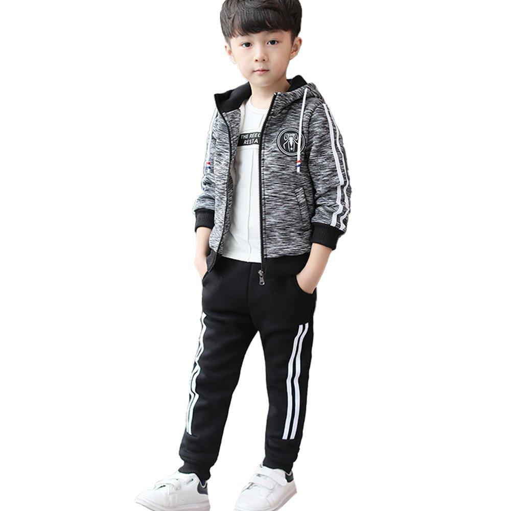 NABER Kids Boys' Fashion Fleece Tracksuits Zipper Jacket Pants Clothing Set 4-11
