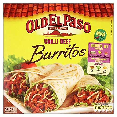 Old El Paso Burritos Dinner Kit (500g) - Pack of 6 by Old El Paso