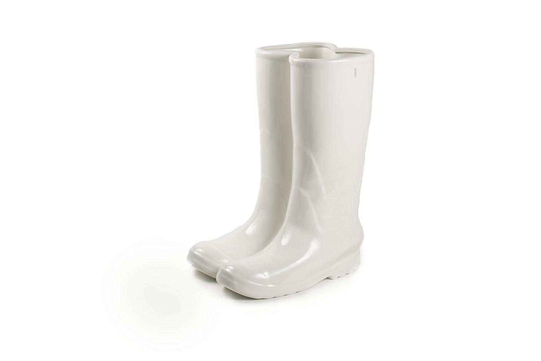 Seletti - Portaombrelli alto Rainboots in porcellana, Bianco 10066
