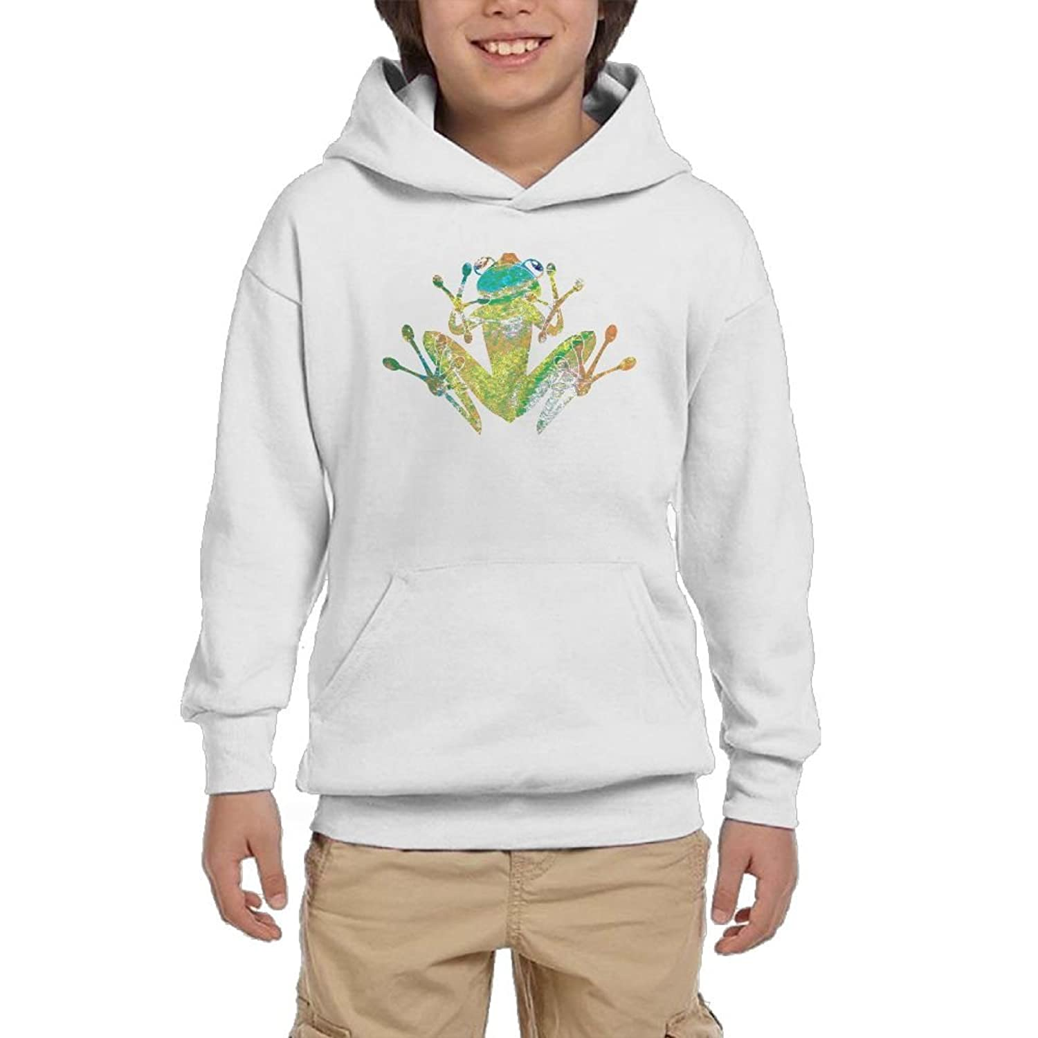 cheap Tie Dye Heart Tree Frog Boy Cotton Hoodie Youth Cool Hoodie save more