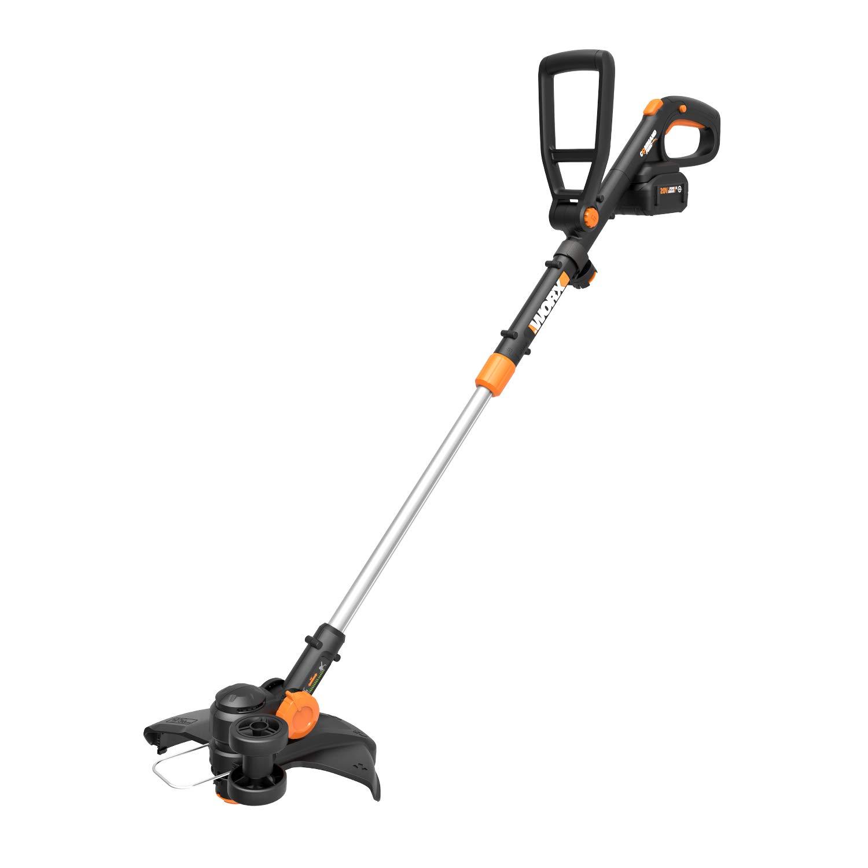 WORX WG170.1 12'' Grass Trimmer/Edger/Mini-Mower 2 20V 4.0Ah Batteries & Charger Included GT Revolution, Black and Orange