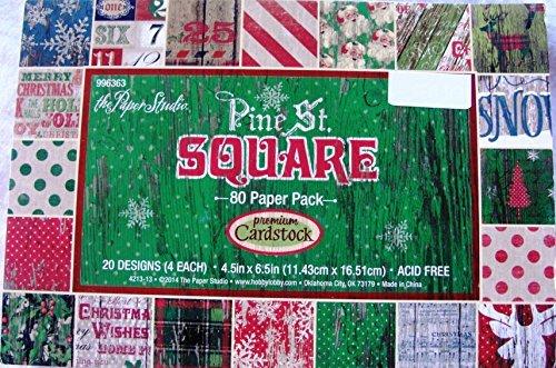 Pine St. Square 80 Paper Pack 4.5 X 6.5 Premium Cardstock -