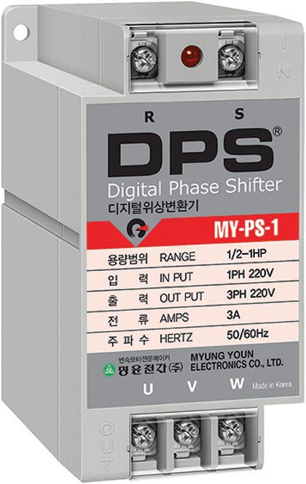 Phase Converter for 0.5HP Motor(0.5-1HP), Digital Phase Converter, 1 Phase to 3 Phase