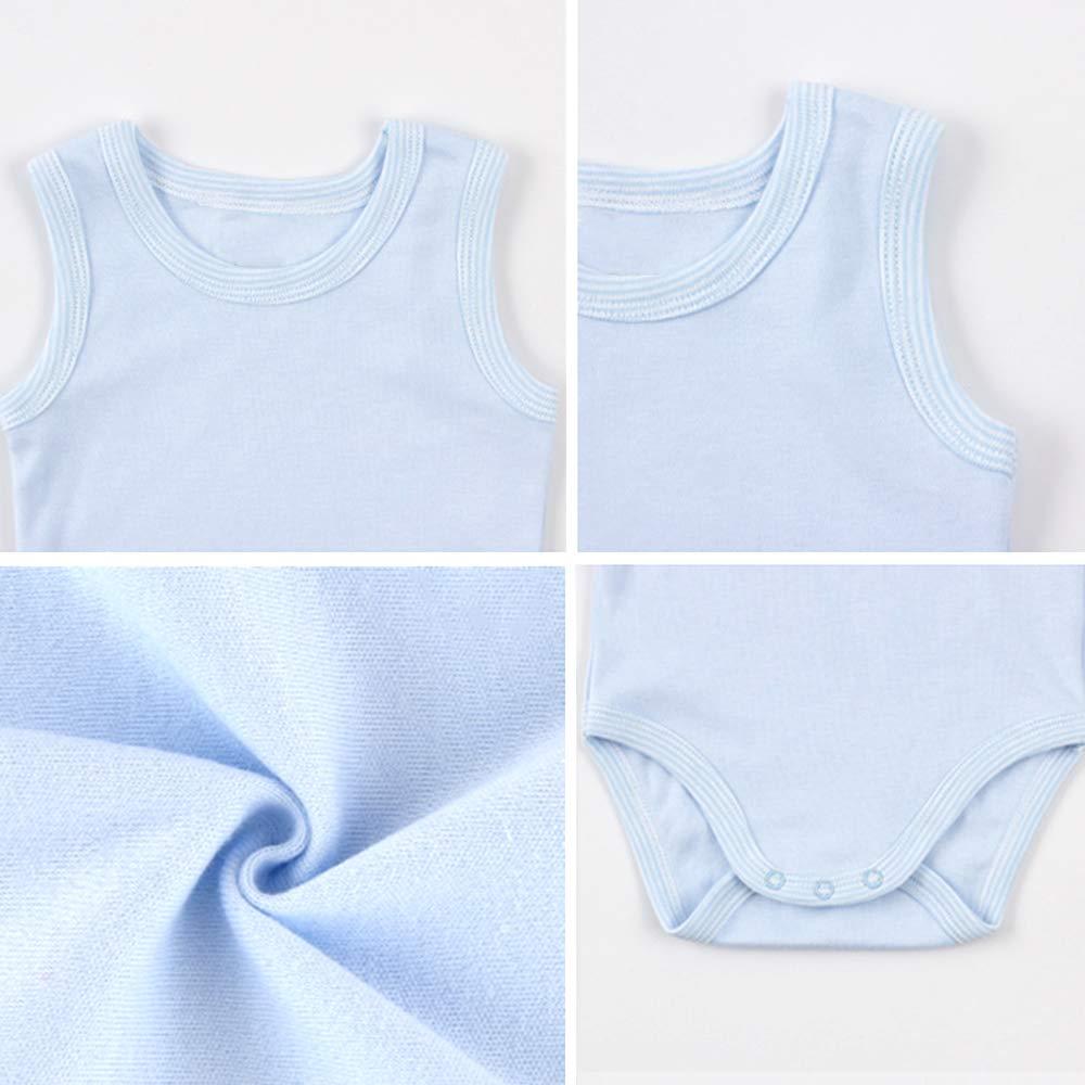 GOWE Unisex Baby Strampler Jungen M/ädchen Achselbody Einfarbig und Aufdruck Bodys Sommer Baumwolle Body Neugeborenen Spielanzug 0-36 Monate
