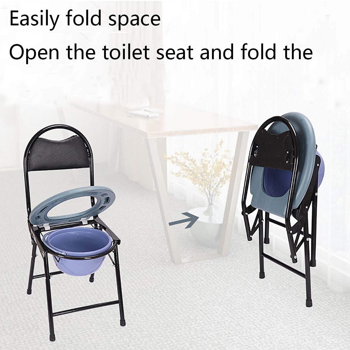 qianqian Chaise percée WC Chaise Toilette Pliant, légère