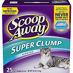 Scoop Away Super Clump Clumping Cat Litter, Scented, 25 pounds