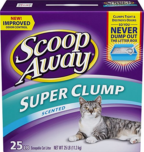Scoop Away* Super Clump with Ammonia Shield, Scented Cat Litter, 25 Pound Carton by Scoop Away