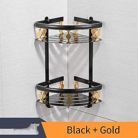 Bathre-Hast - Estantería esquinera de Aluminio para Ducha, 2 Niveles, para Almacenamiento de champú, Pared, Cocina, Esquina: Amazon.es: Hogar