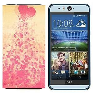 EJOOY---Cubierta de la caja de protección para la piel dura ** HTC Desire Eye M910x ** --Corazón escupir Modelo rosado