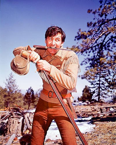 Fess Parker as Daniel Boone with Knife Durable Aluminum Wall Art