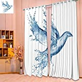 SeptSonne Thermal Insulated Window Curtains dove made out of water splashes isolated on white Set of Two Panels/W104 x L108 Pair Review